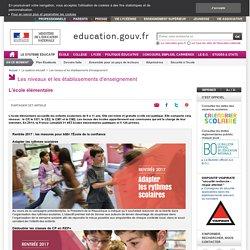 L'école élémentaire : organisation, programme et fonctionnement