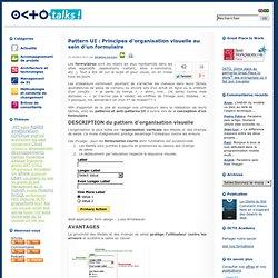 Principes d'organisation visuelle au sein d'un formulaire