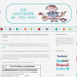 Leçons en Organisation et Gestion des Données pour le cycle 3