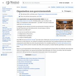Organisation non gouvernementale