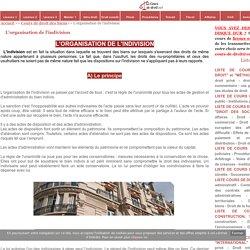 L'organisation de l'indivision - Cours de droit