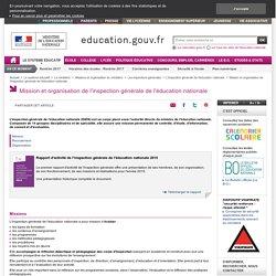 Mission et organisation de l'inspection générale de l'éducation nationale