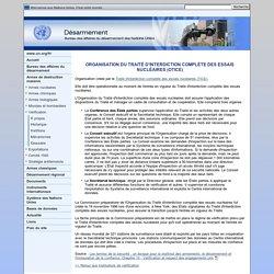 Organisation du Traité d'interdiction complète des essais nucléaires