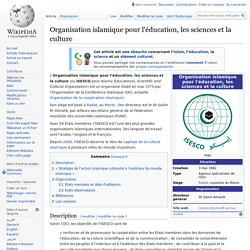 Organisation islamique pour l'éducation, les sciences et la culture