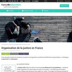 Organisation de la justice en France