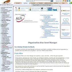 Organisation d'un Asset Manager