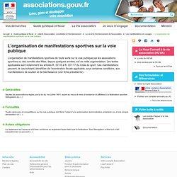 L'organisation de manifestations sportives sur la voie publique - associations.gouv.fr