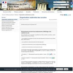 Organisation matérielle des scrutins / Elections / Politiques publiques / Accueil - Les services de l'État dans l'Eure