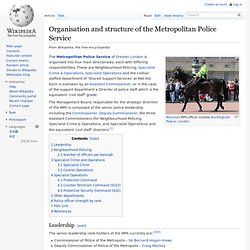 Organisation and structure of the Metropolitan Police Service