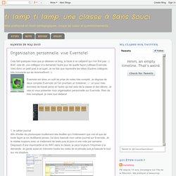 une classe à Sans Souci: Organisation personnelle: vive Evernote!