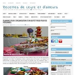 PLANNING POUR L'ORGANISATION D'UN BUFFET FROID POUR 50 PERSONNES