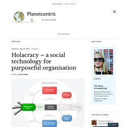 Holacracy – a social technology for purposeful organisation