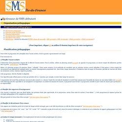 Organisation pédagogique : progressions pédagogiques
