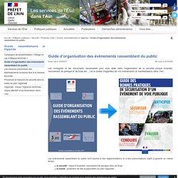 Guide d'organisation des évènements rassemblant du public - Internet des services de l'État dans l'Ain