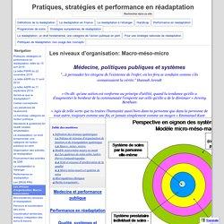 Micro-méso-macro - Réadaptation, handicap et politiques publiques