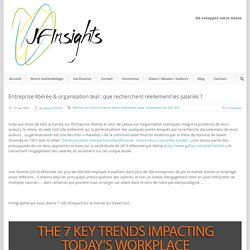 JfInsights Entreprise libérée & organisation teal : que recherchent réellement les salariés ? - JfInsights