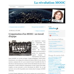 L'organisation d'un MOOC : un travail d'équipe