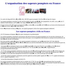L'organisation des sapeurs pompiers en France