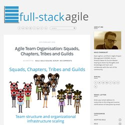 Agile Team Organisation: Squads, Chapters, Tribes and Guilds - full-stack agile