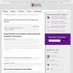 Organisation et structure du secteur bancaire français