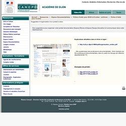 Suggestion d'organisation d'un portail e-sidoc - Réseau Canopé – Direction territoriale académies de Besançon et de Dijon