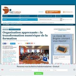 Organisation apprenante : la transformation numérique de la formation