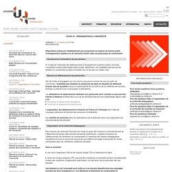Covid-19 : organisation à l'université - UNIVERSITÉ LE HAVRE NORMANDIE