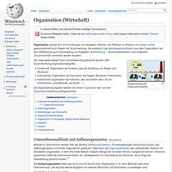 Organisation (Wirtschaft)