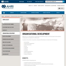 Organisational Development - Australian Human Resources Institute