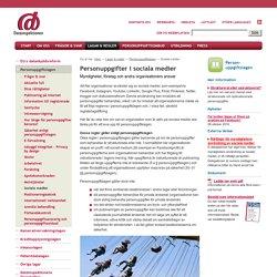 Myndigheter, företag och andra organisationers ansvar för personuppgifter i s...