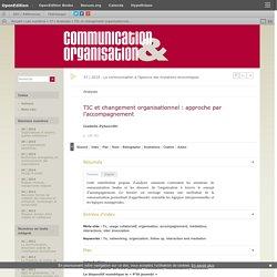 TIC et changement organisationnel: approche par l'accompagnement