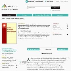 L'ancrage social de la téléassistance pour personnes âgées : des actes de communication à l'information organisationnelle