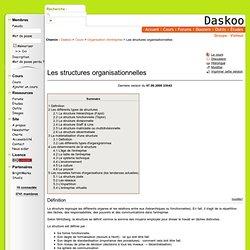 Organisation d'entreprise: Les structures organisationnelles