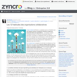 Les 12 habitudes des organisations collaboratives Zyncro Blog France