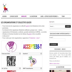 Les organisations et collectifs queer - QueerParis