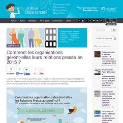 Comment les organisations gèrent-elles leurs relations presse en 2015