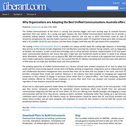 Why Organisations are Adopting the Best Unified Communications Australia offers