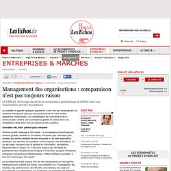 Management des organisations : comparaison n'est pas toujours raison