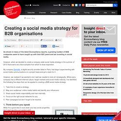 Creating a social media strategy for B2B organisations