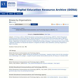 Browse by Organisations - Digital Education Resource Archive (DERA)