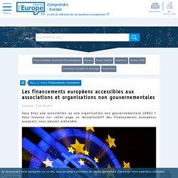 Les financements européens accessibles aux associations et organisations non gouvernementales - Financements européens-Toute l'Europe