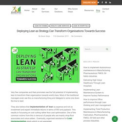 Implementing Lean Strategy for Organisations
