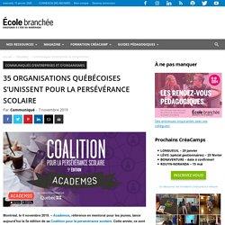 35 organisations québécoises s'unissent pour la persévérance scolaire