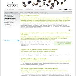 Son rôle et ses missions - CEDAP, Réseau d'expertise sur les Organisations Professionnelles (fédération, syndicat)