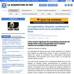 Les organisations citoyennes condamnent la proposition de loi sur la surveillance de masse