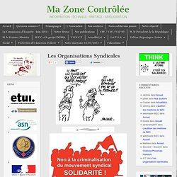 Les organisations syndicales