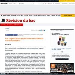 Les organisations tayloriennes et fordiennes ont-elles disparu? - Terminale ES Sciences Economiques
