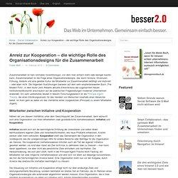 Anreiz zur Kooperation – die wichtige Rolle des Organisationsdesigns für di