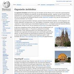 Organische Architektur