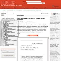 Crime organisé et politique en France, aperçu historique - Laurence MONTEL